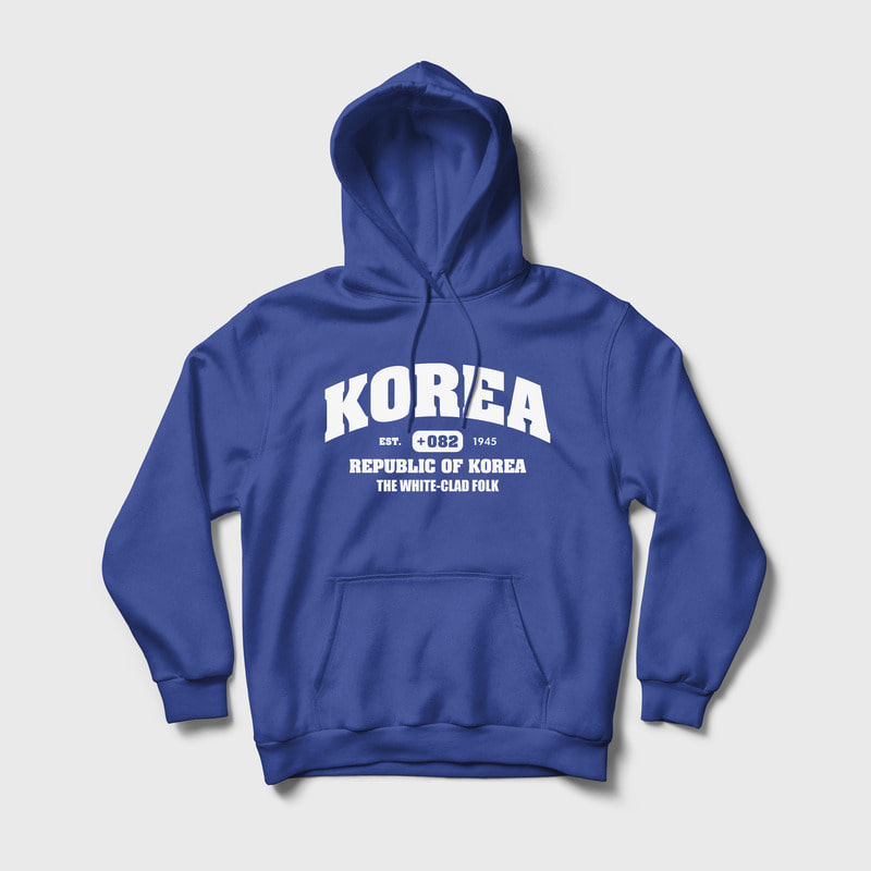 (8차 리오더 / 당일 발송) Korea : The white-clad folk Relaxed Fit Hoody Blue