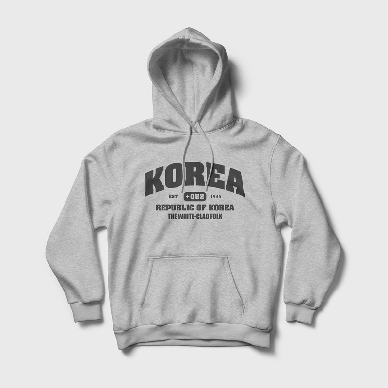 (8차 리오더 / 당일 발송) Korea : The white-clad folk Relaxed Fit Hoody Grey
