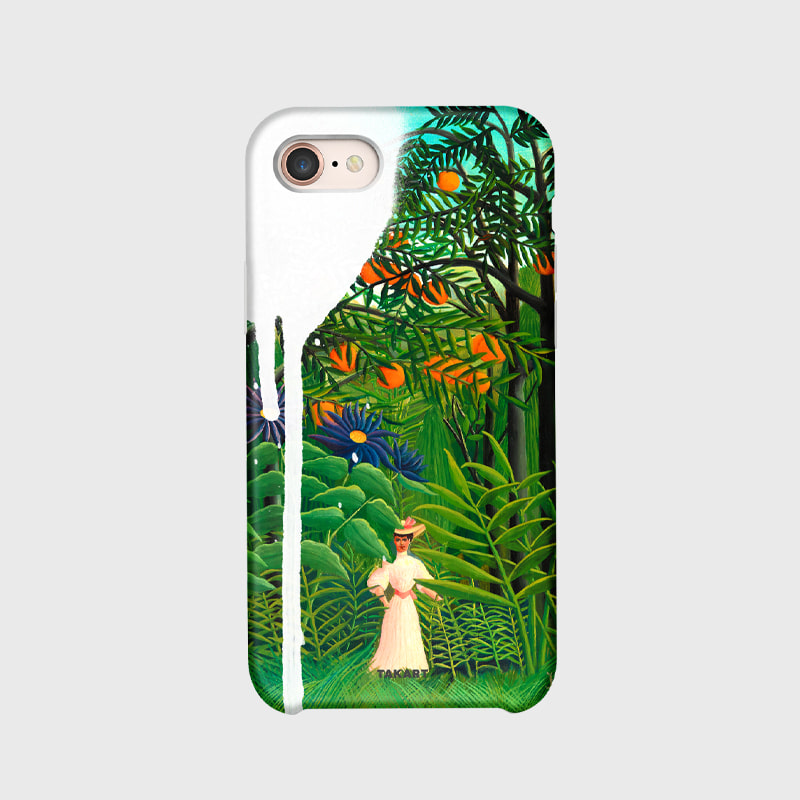 "The Frame Campaign : 'Woman Walking in an Exotic Forest' by Henri Rousseau - ""The secret forest"""